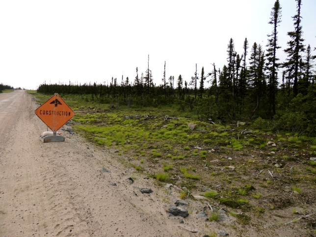 The saying that there are only two season in Canada-- roadwork and winter-- is 100% true in Labrador.